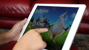 The ad featured an Apple iPad (Peter Byrne/PA)