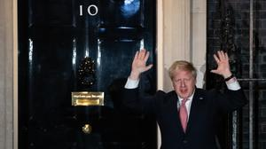Boris Johnson outside 10 Downing Street on Thursday night joining in with a national applause for the NHS (PA)