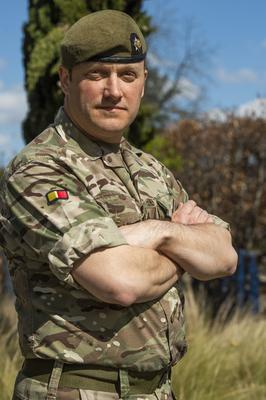 Lt Col Phill Moxey praised the work of soldiers (Sergeant Donald Todd (RLC)/MoD/Crown Copyright/PA)