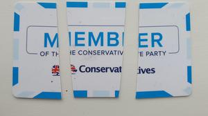 Alistair Haimes destroyed his Conservative membership card (Alistair Haimes/PA)