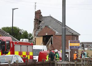 Half of the semi-detached home was wiped out (Owen Humphreys/PA)