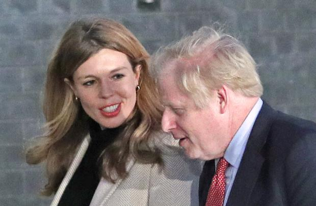 Boris Johnson is said to be concerned about the cost of wallpaper chosen by his fiancee Carrie Symonds (Yui Mok/PA)