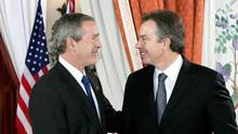 US president George Bush was told of Tony Blair's support in a 2002 memo