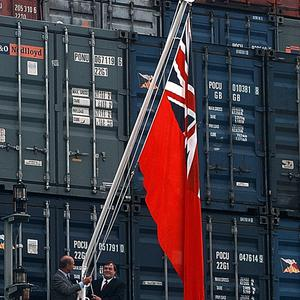 The red ensign of the merchant fleet