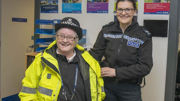Margaret thanked Northumbria Police for a day to remember (Northumbria Police/PA)