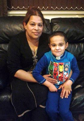 Ayman Faisal with his mother Saira, who fears he will never speak again (Family handout/PA)