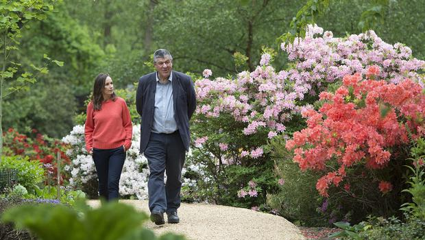Florist Philippa Craddock and Keeper of the Gardens at Windsor Great Park John Anderson, choosing plants from the Savill Garden to be used for the wedding (Eddie Mulholland/Daily Telegraph/PA)