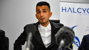 Shakeel Afsar speaks to media after a High Court judge permanently banned anti-LGBT protests outside Anderton Park Primary School in Birmingham (Jacob King/PA)