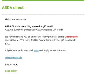 The coronavirus-themed scam voucher poses as one from a supermarket (CTSI/PA)