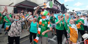 Fans gather to pay tribute in Dublin yesterday