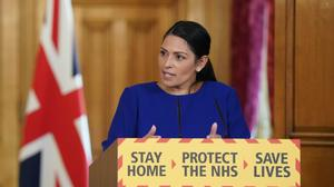 Home Secretary Priti Patel said visa surcharges were under review (Pippa Fowles/10 Downing Street/Crown Copyright/PA)