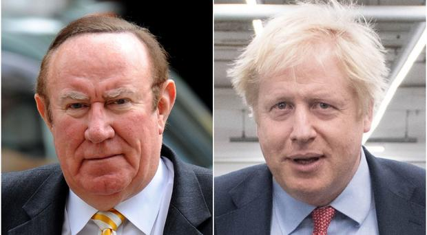 Andrew Neil and Boris Johnson (PA)