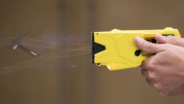 A Taser being fired (Aaron Chown/PA)