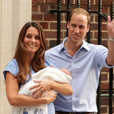 The Duke and Duchess of Cambridge leave the Lindo Wing of St Mary's Hospital in London with their newborn son (PA)