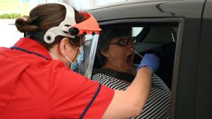 Coronavirus testing being carried out in Cambridge. The NHS Test and Trace scheme gets under way on Thursday (Neil Hall/PA)