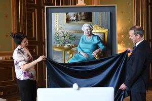 The portrait was unveiled by