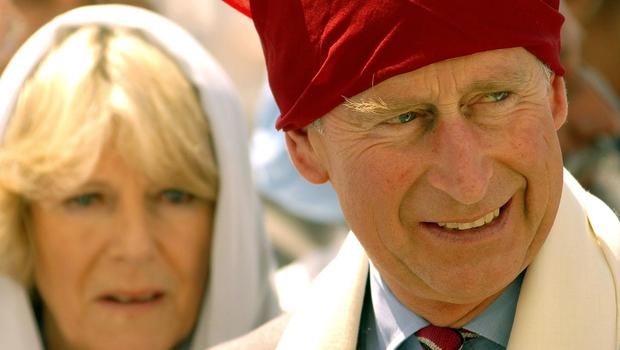 The Prince of Wales and Duchess of Cornwall visit a Sikh Temple in Northern India (John Stillwell/PA)