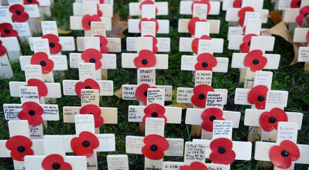 The Field of Remembrance at Westminster Abbey (Kirsty O'Connor/PA)