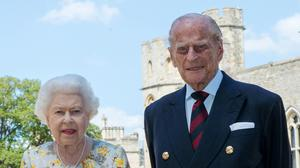 The Queen and the Duke of Edinburgh in the quadrangle of Windsor Castle ahead of his 99th birthday on Wednesday (Steve Parsons/PA)