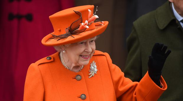 Queen leaving church on Christmas Day in 2018 (Joe Giddens/PA)