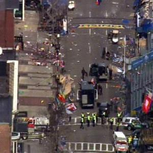 An overhead view of the scene in Boston. (APo/WCVB-TV/ABC)