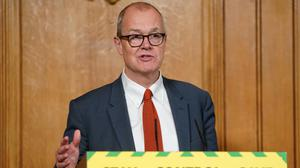 Sir Patrick Vallance warned infections could yet rise (Pippa Fowles/10 Downing Street/Crown Copyright/PA)