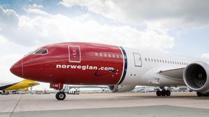 Airline Norwegian recorded a 61% drop in passenger numbers last month (Norwegian/PA)