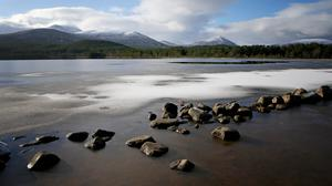 A general view across Loch Morlich in the Cairngorm mountain range, Aviemore (Jane Barlow/PA)