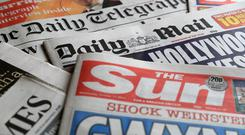 A collection of British newspapers – January 28