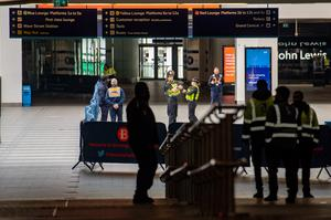 Increased transport police and security personnel were deployed at stations (Jacob King/PA)