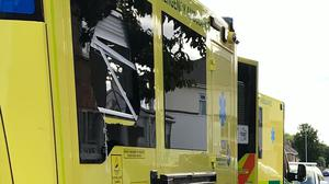 Damage to an ambulance which was attacked over the weekend (North East Ambulance Service NHS Foundation Trust/Twitter)