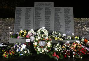 The names of the victims of the Lockerbie disaster are included in a memorial in the town (Andrew Milligan/PA)