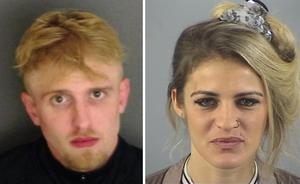 Samuel Davies and Roxanne Davis were jailed for 10 years each (Hampshire Constabulary/PA)