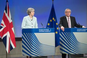 Theresa May and European Commission president Jean-Claude Juncker (Etienne Ansotte/EU)