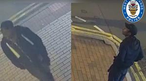 CCTV issued by West Midlands Police showing a man they want to speak to (West Midlands Police/PA)