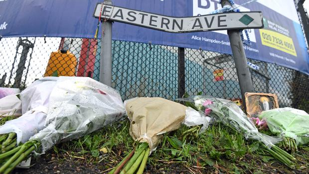Floral tributes left on Eastern Avenue, Grays (Kirsty O'Connor/PA)