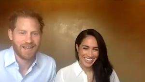 Harry and Meghan on the call (The Queen's Commonwealth Trust/PA)
