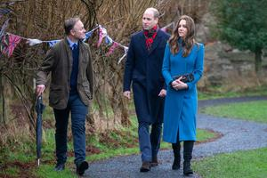 William and Kate with headteacher Nicholas Shaw (Andy Commins/Daily Mirror/PA)