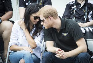 Harry and Meghan at the 2017 Invictus Games in Toronto, Canada, before they got engaged (Danny Lawson/PA)