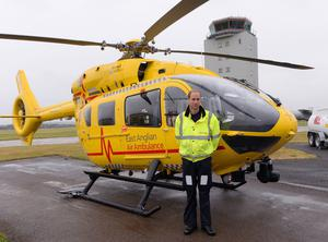 William has experience of being a frontline worker as he flew air ambulance helicopters (Stefan Rousseau/PA)