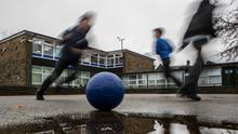 'The Education Minister Peter Weir underlines that schools are due to reopen on a phased basis and that a range of safety measures will be required, but his department has also said that it does not have enough funding for PPE and other equipment.' (Danny Lawson/PA)