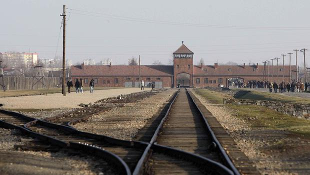 The train tracks at Auschwitz-Birkenau (Dave Thompson/PA)