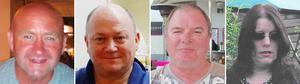 Crash victims (L to R) Duncan Munro, 46, from Bishop Auckland, George Allison, 57, from Winchester, Gary McCrossan, 59, from Inverness and Sarah Darnley, 45, from Elgin (Police Scotland/PA)