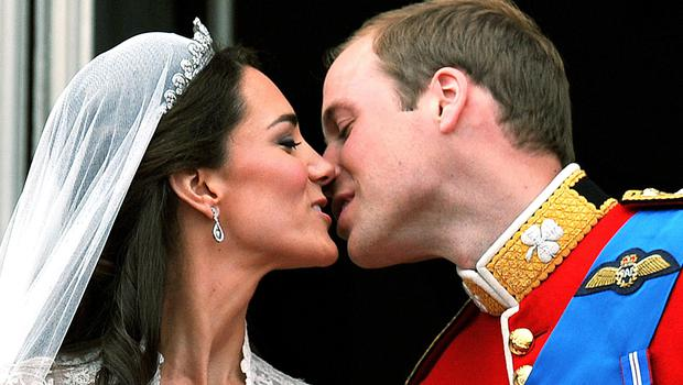 The Duke and Duchess of Cambridge were the last royal couple to seal their union with a public kiss (John Stillwell/PA)