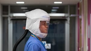Personal respirator created by University of Southampton to protect frontline NHS staff (Ric Gillams/PA)