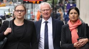 Anna Crowther, Martyn Day and Sapna Malik arrive at the Solicitors Disciplinary Tribunal (Philip Toscano/PA)