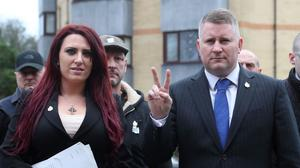 Jayda Fransen and Paul Golding have been found guilty of religiously-aggravated harassment (Gareth Fuller/PA)