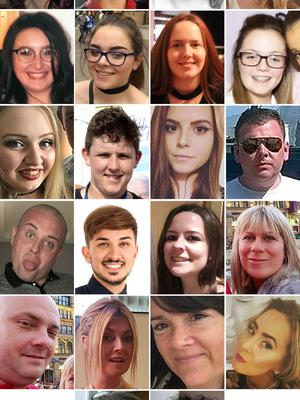The 22 victims of the Manchester Arena terror attack (Greater Manchester Police/PA)