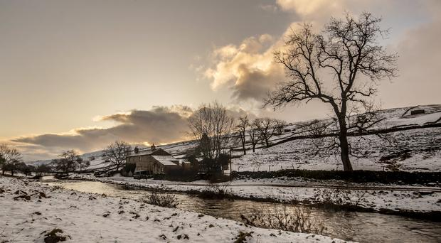 Snowy conditions near Deepdale in the Yorkshire Dales National Park (Danny Lawson/PA)