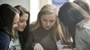 Students awaiting their exam results (PA)